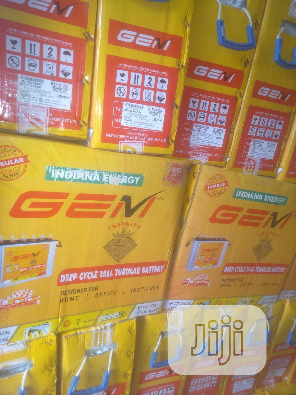GEM 240ah/12v Tubular Battery