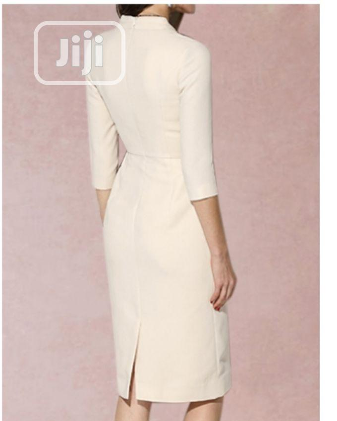 Stylish Off White Gown | Clothing for sale in Ikeja, Lagos State, Nigeria
