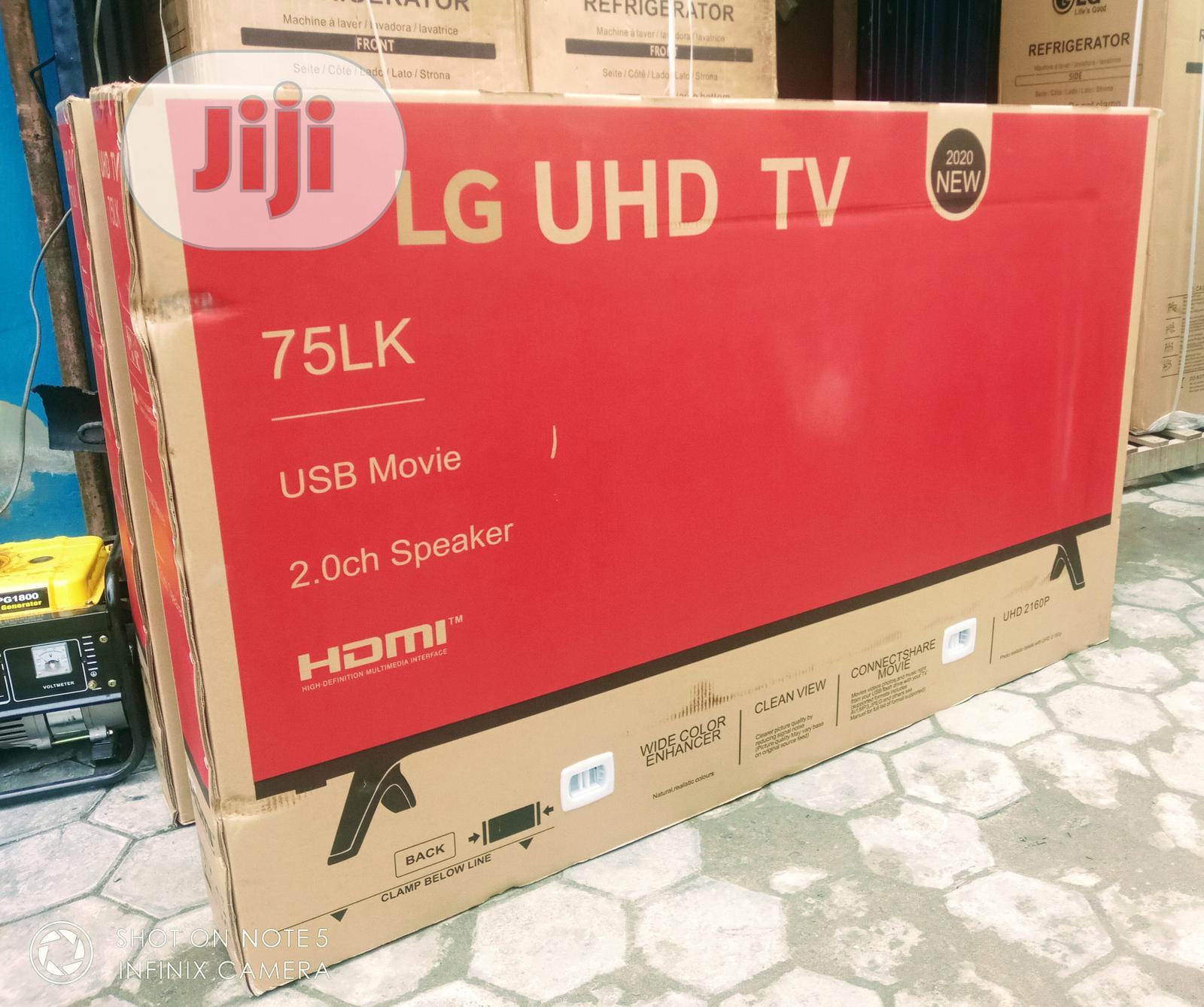 """(2020)New LG 75""""Inch UHD Smart Slim Flat TV 75 LK500 + WI-FI"""