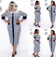 Beautiful Turkey Houndstooth Dress | Clothing for sale in Rivers State, Port-Harcourt