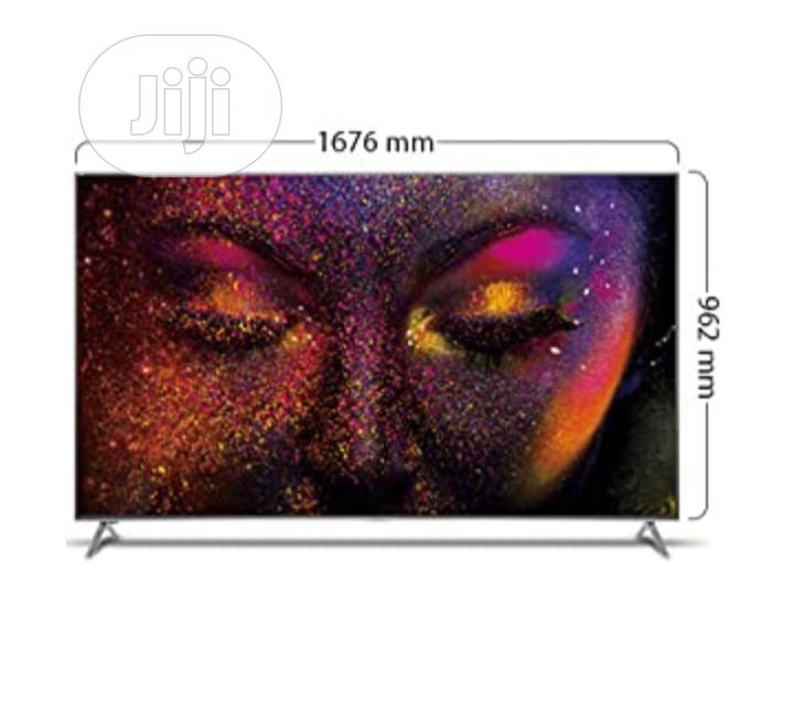 Hisence 4k UHD Smart LED Silver Slim Tv 75 Inches | TV & DVD Equipment for sale in Wuse, Abuja (FCT) State, Nigeria