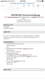 Front Desk Representative | Customer Service CVs for sale in Lagos State, Ikotun/Igando