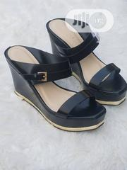 Black Wedge Sandals for Ladies   Shoes for sale in Lagos State, Ajah