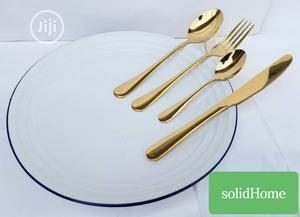 24psc Gold Eating Spoons | Kitchen & Dining for sale in Abuja (FCT) State, Wuse