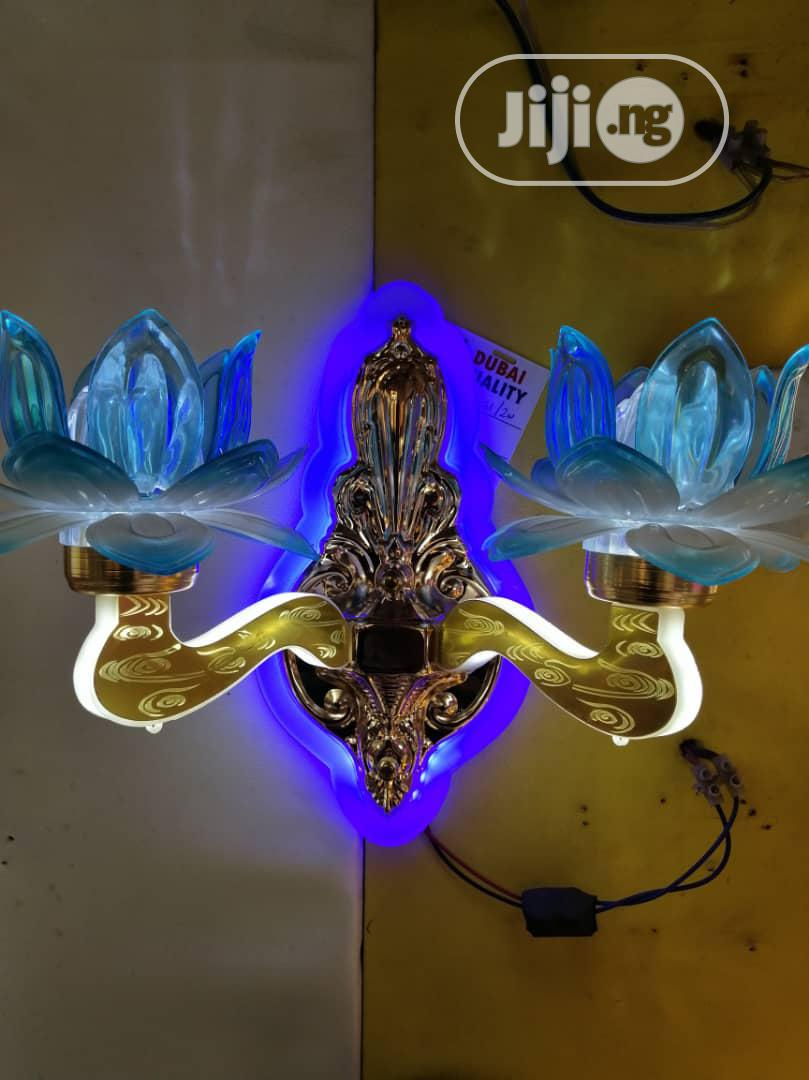 Led Wall Bracket Blue In Colour
