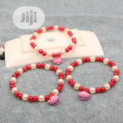 Teddy Bear Cartoon Pearl Necklace For Pets | Pet's Accessories for sale in Lagos State, Ifako-Ijaiye