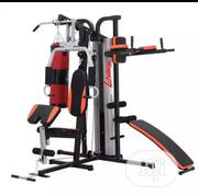 3 Multi Station Gym With Sit Up Bench and Punching Bag | Sports Equipment for sale in Lagos State, Ikorodu