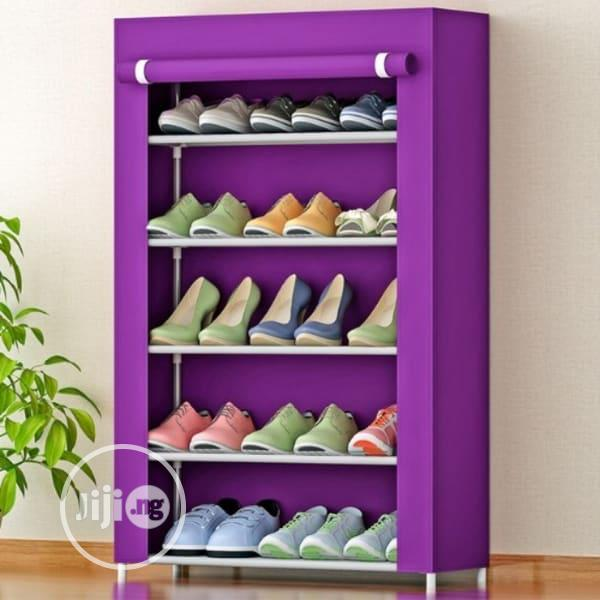 Shoe Rack With Cloth Cover