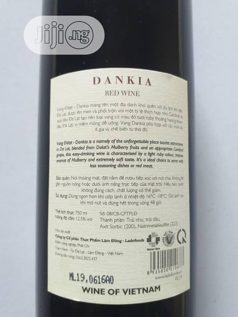 Vang Dalat Dankia Red Wine 750ml X6 Bottles | Meals & Drinks for sale in Amuwo-Odofin, Lagos State, Nigeria