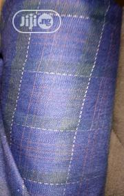 Blue Cotton Senator Fabric Material X2 FREE CUFFLINK | Clothing Accessories for sale in Lagos State, Ikoyi