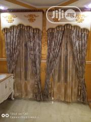 Current Turkish Curtain Design With Antic Board   Home Accessories for sale in Lagos State, Lekki Phase 1