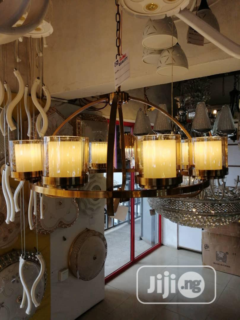 Gold Chandelier With Bulb