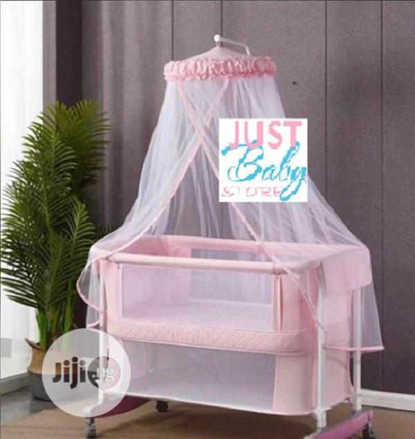 Drop Side Next To Me Cot With Standing Net | Children's Furniture for sale in Ajah, Lagos State, Nigeria