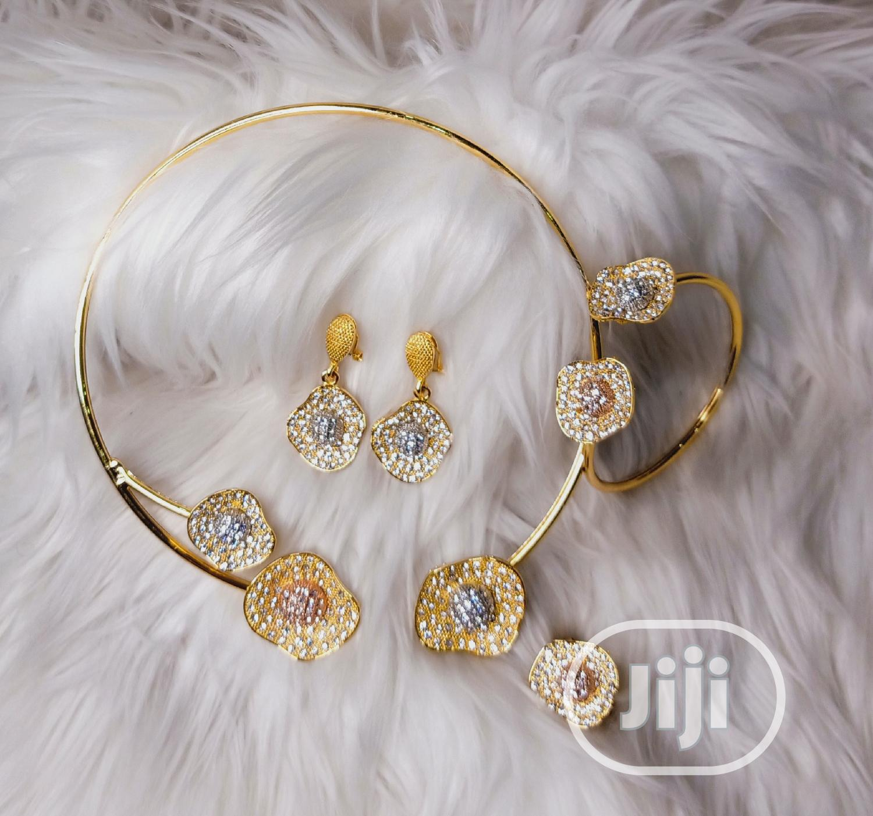 Archive: Three Tone 4 Piece Jewellery Set