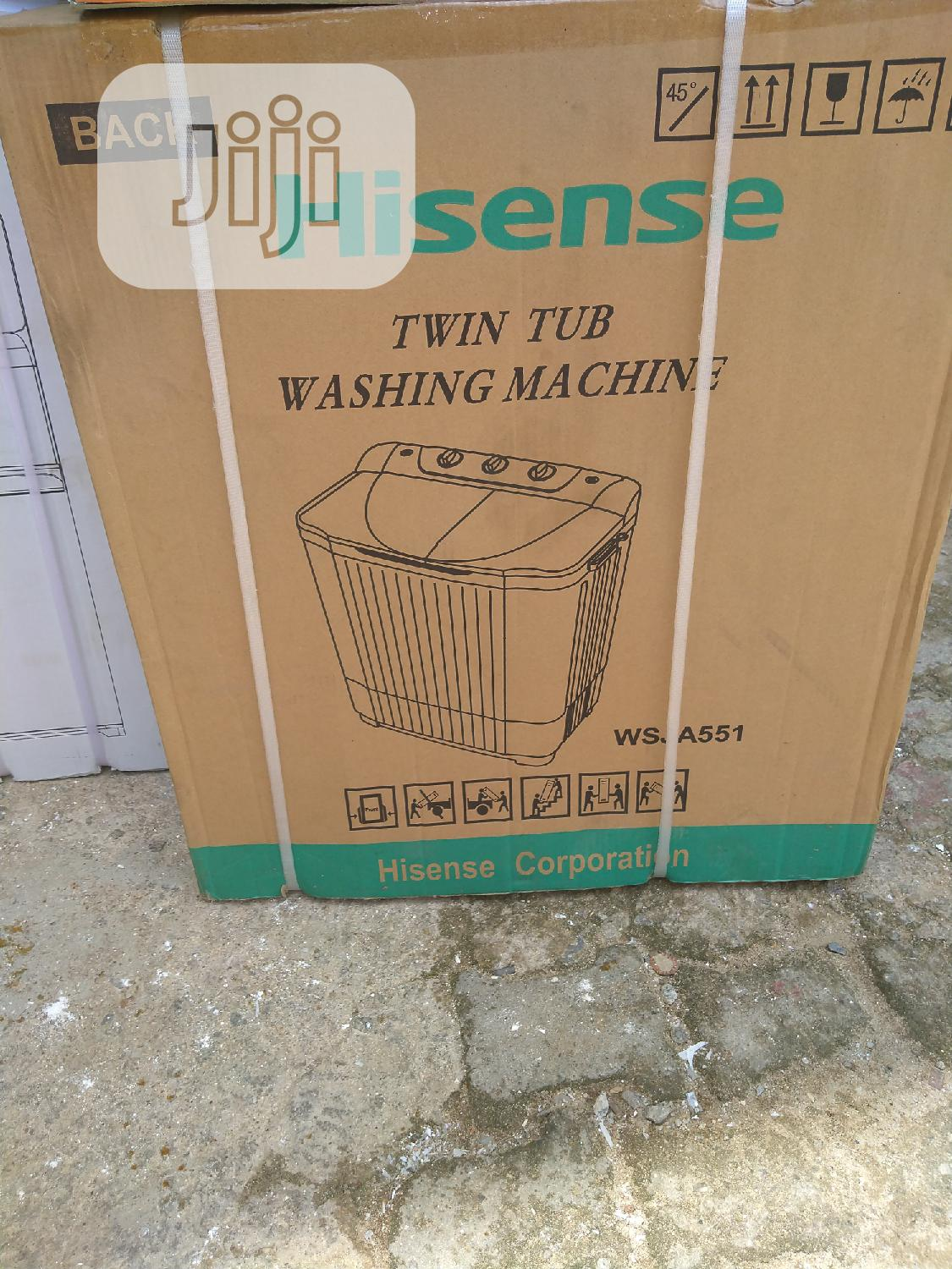 Hisense Twin Tub Washing Machine 5kg | Home Appliances for sale in Wuse 2, Abuja (FCT) State, Nigeria