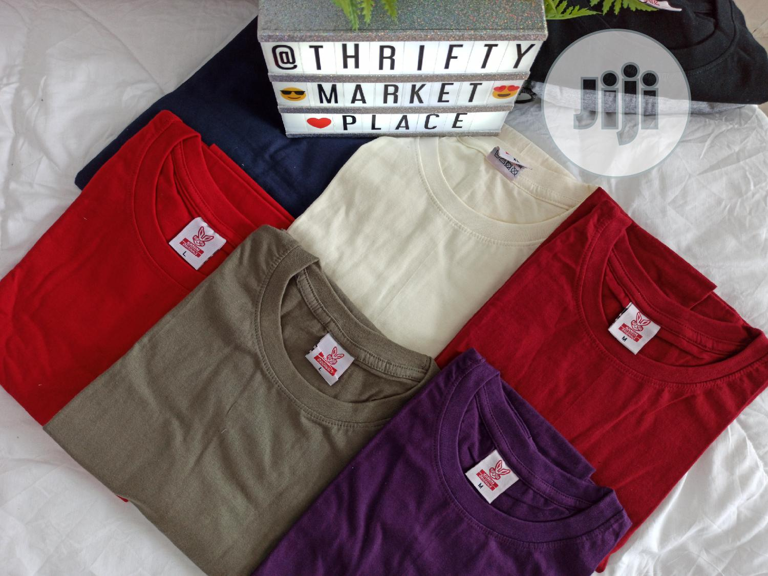 Unisex Plain T-shirts | Clothing for sale in Obio-Akpor, Rivers State, Nigeria