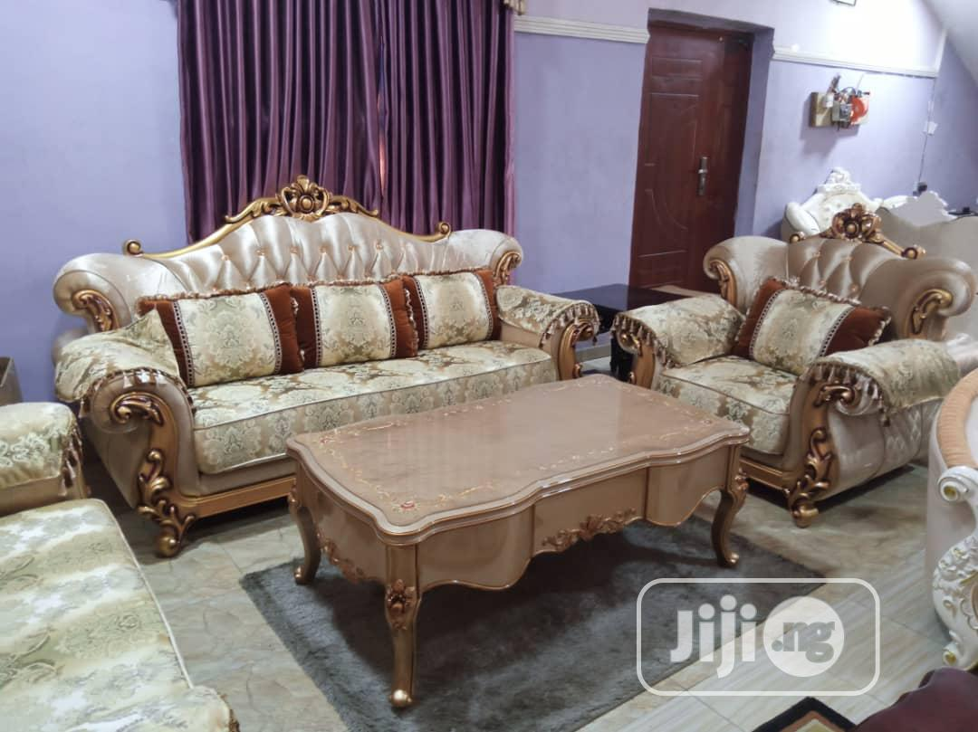 High Quality Turkey Royal Sofa Chairs by 7seaters and Center Table | Furniture for sale in Ojo, Lagos State, Nigeria