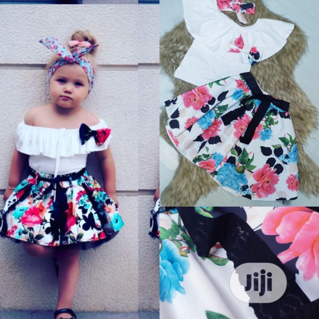 Girls Flower Skirt and Top