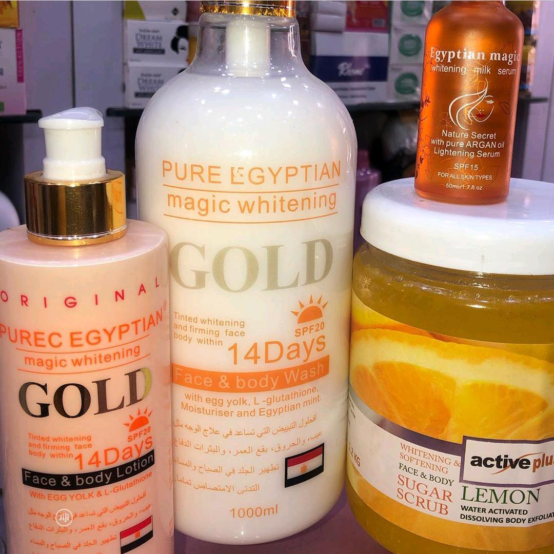 Archive: Pure Egyptian Gold Lightening Set With Active Plus Body Scrub