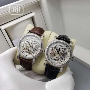 Franck Muller Automatic Full Ice Silver Leather Strap Watch | Watches for sale in Lagos State, Lagos Island (Eko)
