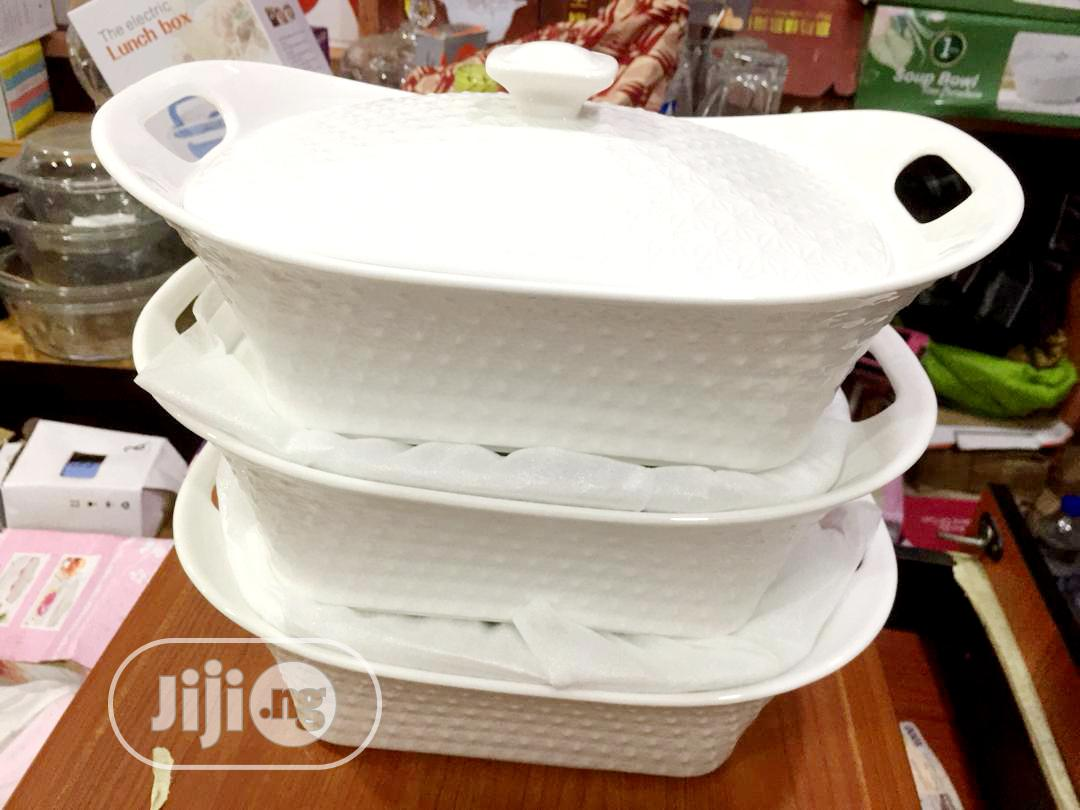 White Breakable Serving Dish