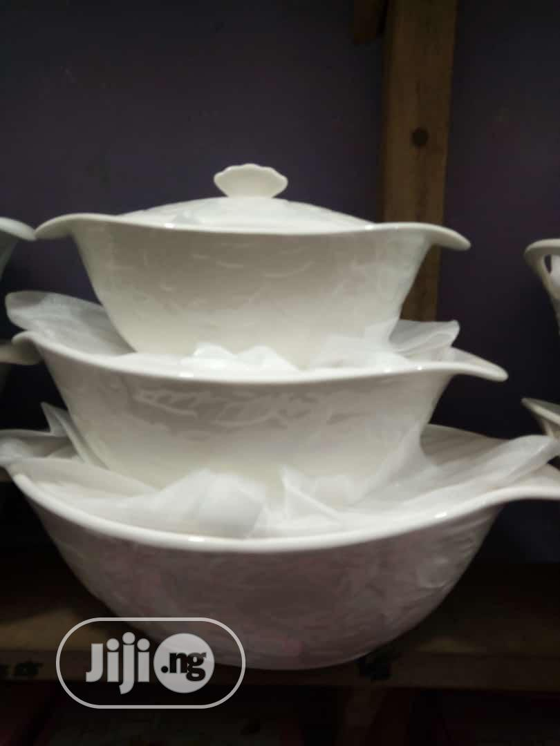 White Breakable Serving Dish | Kitchen & Dining for sale in Lagos Island, Lagos State, Nigeria