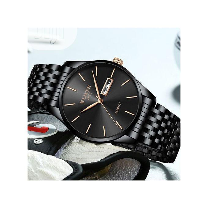 Archive: Wlisth Men's Watches Waterproof Quartz Wristwatch Stainless Steel