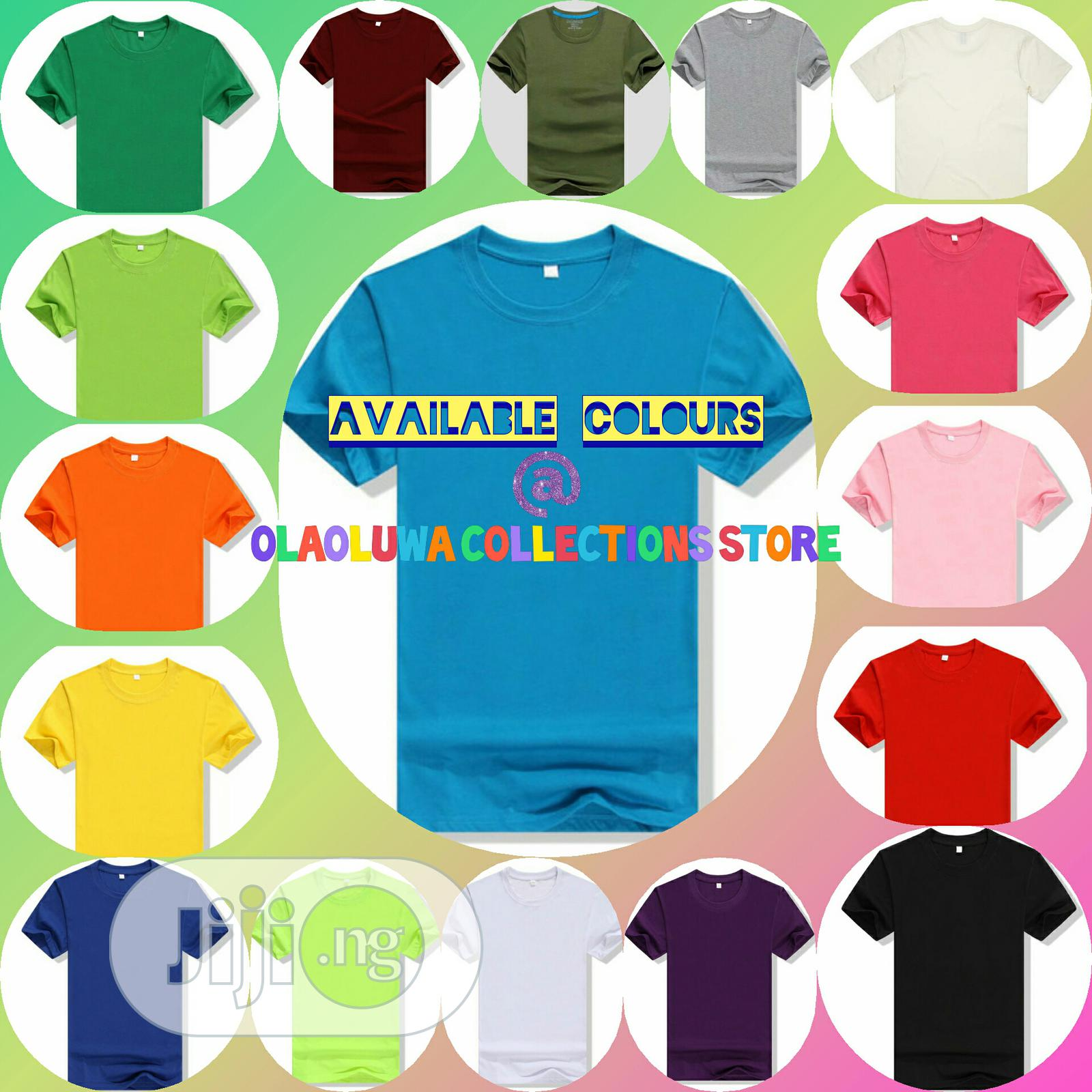 Affordable Plain Tees at Wholesales Price | Clothing for sale in Abeokuta North, Ogun State, Nigeria