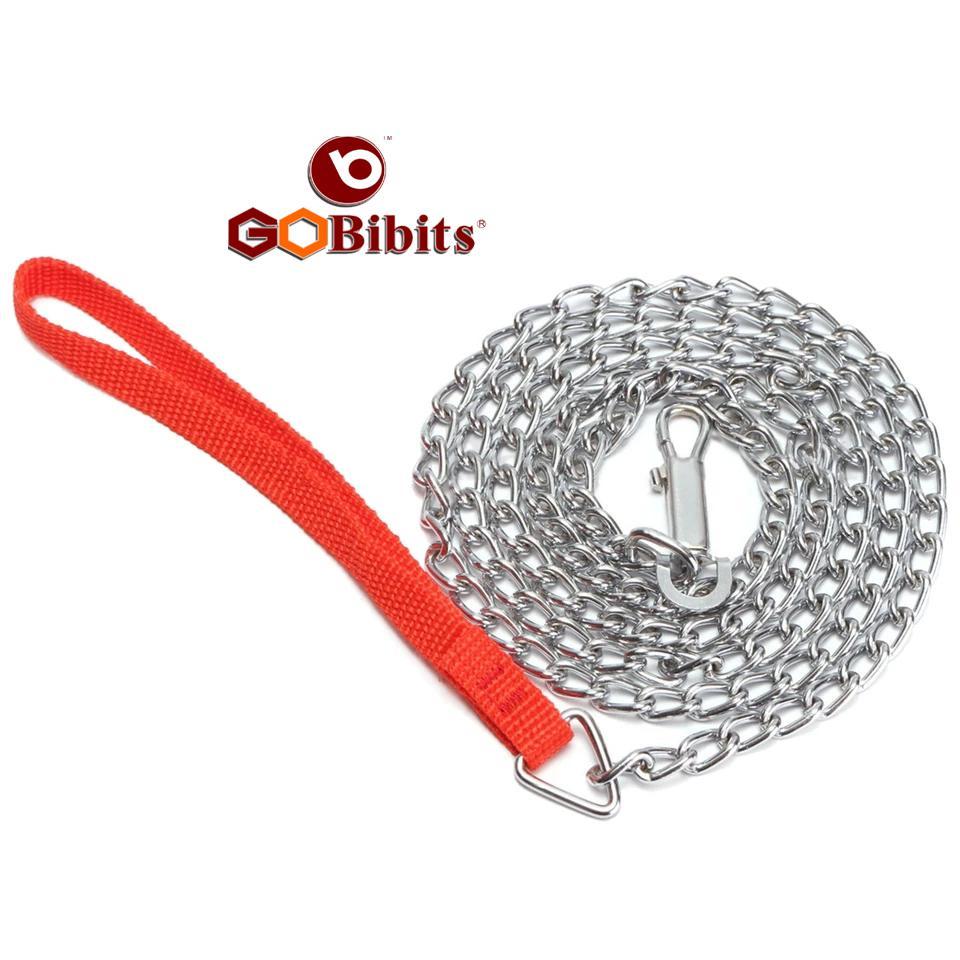 Red Handle Dog Chain Leash