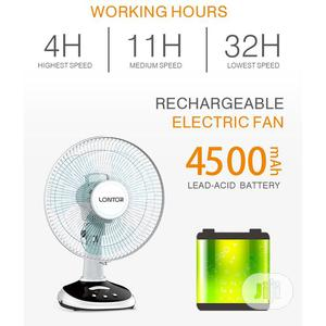 Lontor Rechargeable Table Fan - 12 Inches | Home Appliances for sale in Lagos State, Lagos Island (Eko)