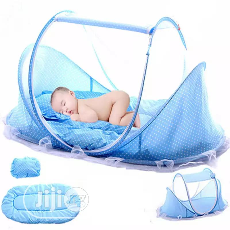Foldable Baby Bed With Mattress, Mosquito Net And Pillow