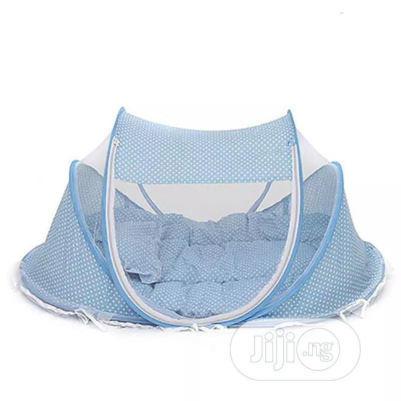 Foldable Baby Bed With Mattress, Mosquito Net And Pillow | Children's Furniture for sale in Dei-Dei, Abuja (FCT) State, Nigeria