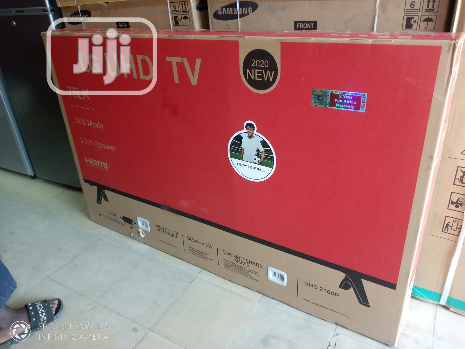 """Uhd LG 75""""Inche Smart LED Android Television Quality Picture"""