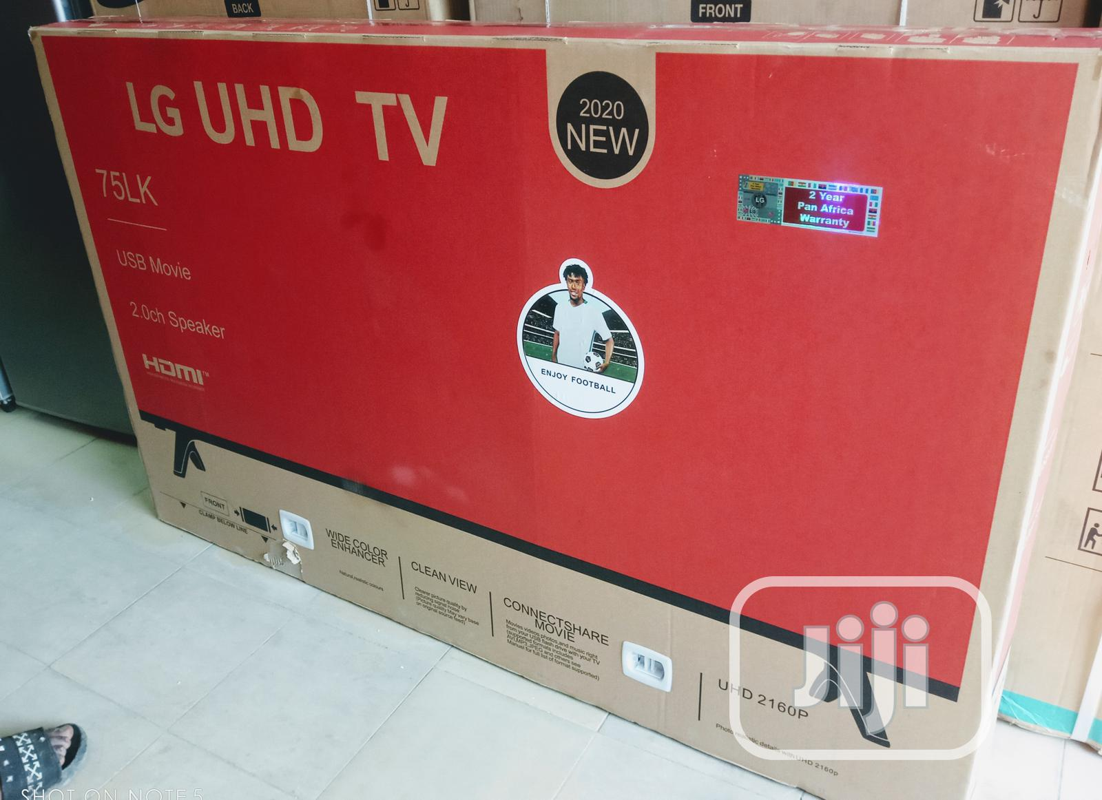 """Uhd LG 75""""Inche Smart LED Android Television Quality Picture 