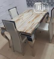 Pure Marble Dining Table With Four Chairs | Furniture for sale in Lagos State, Victoria Island