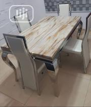 Reliable 4-Seater Marble Dining Table With Four Chairs | Furniture for sale in Lagos State, Ikorodu