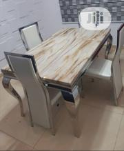 Unique Quality Marble Dining Table With Four Chairs | Furniture for sale in Lagos State, Lekki Phase 1