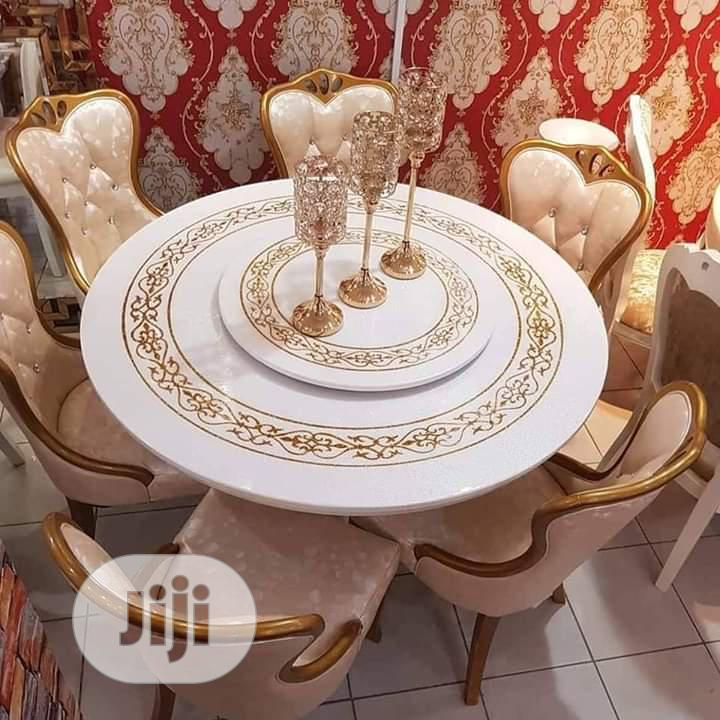 Unique And Quality Marble Dinning With 6 Chairs