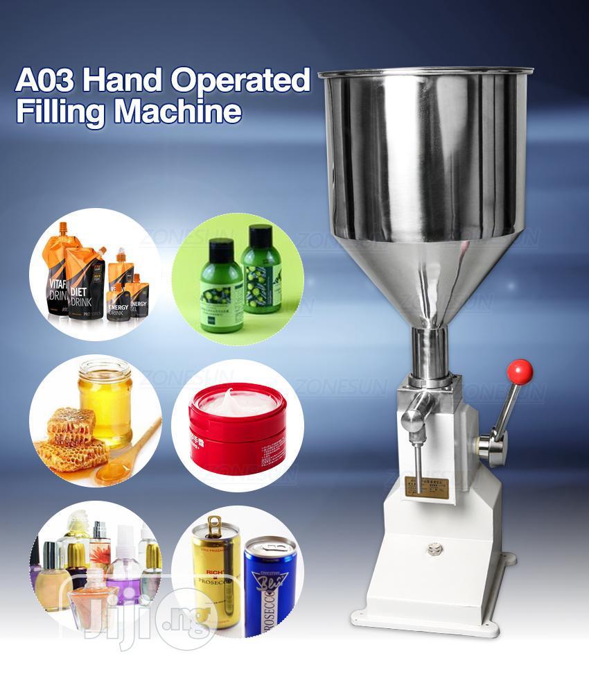 A03 Manual Liquid Paste Cream Cosmetics Filling Machine