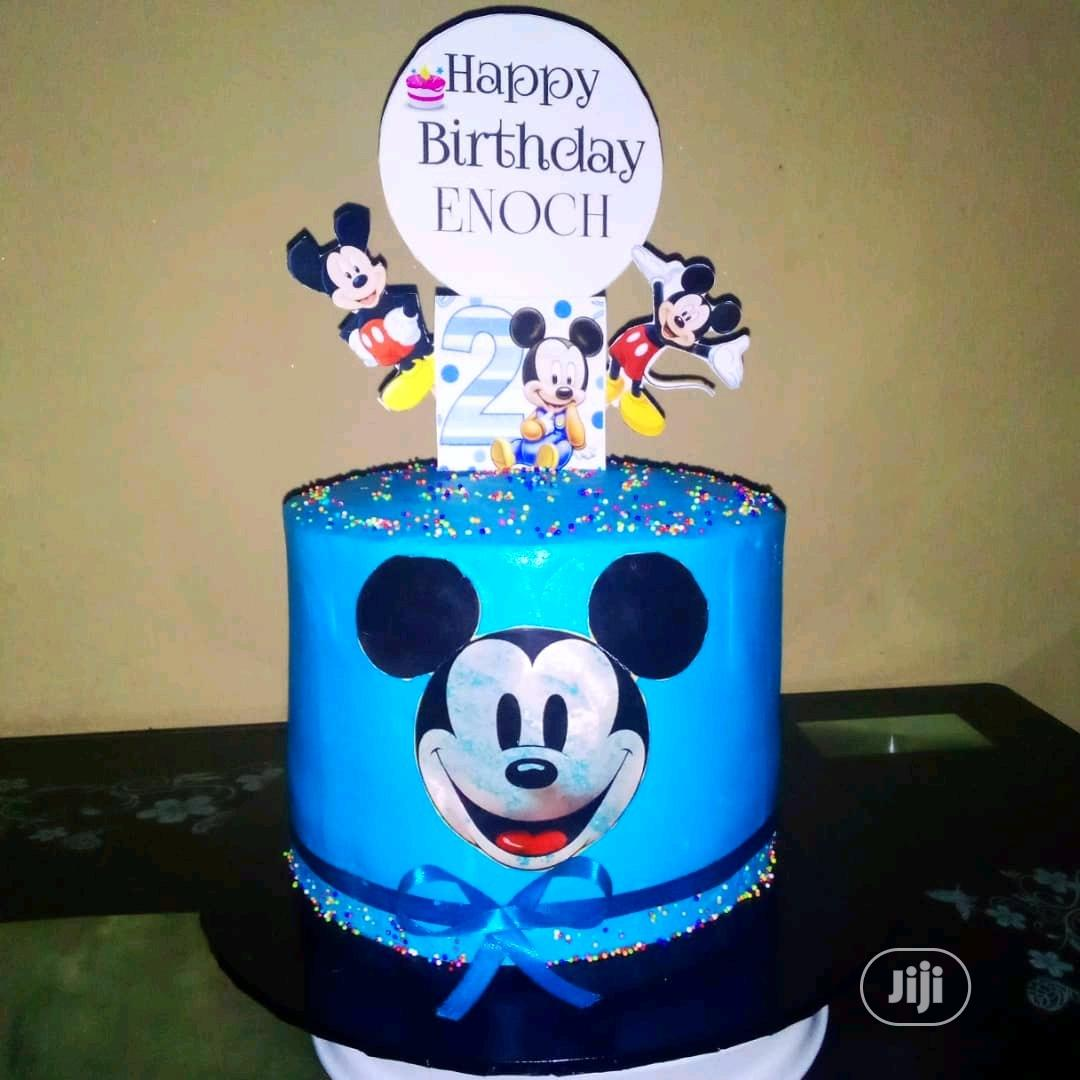 Mickey Mouse Buttercream Cake