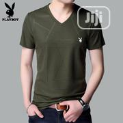 Men VIP Playboy Fashion V-Neck T-Shirts | Clothing for sale in Lagos State, Lagos Island