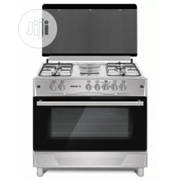 Maxi Style 60 X 90 Gas Cooker - 4 Gas + 2 Electric - Inox