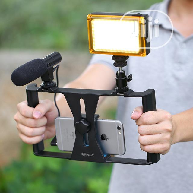 3in1 Phone Selfie Led Broadcast Tripod Stand | Accessories & Supplies for Electronics for sale in Ikeja, Lagos State, Nigeria