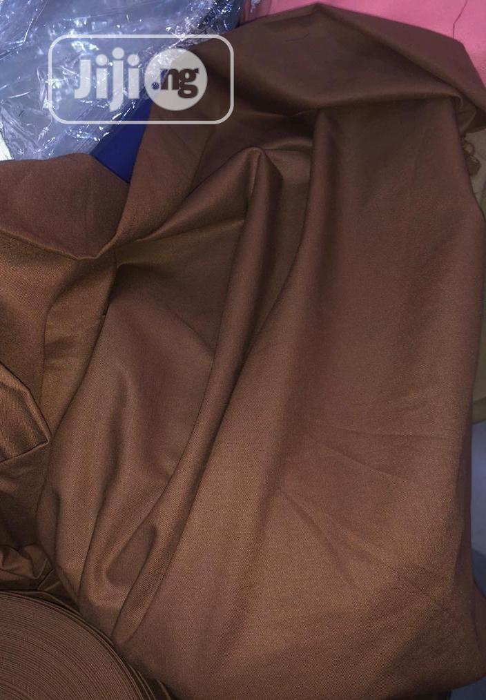 Archive: Brown Cotton Senator Fabric Material X2 - 1 FREE CUFFLINK