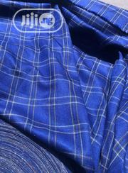 Blue Cotton Senator Fabric Material X2 - 1 FREE CUFFLINK | Clothing Accessories for sale in Lagos State, Ikoyi