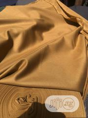 Brown Cotton Senator Fabric Material X2 - 1 FREE CUFFLINK | Clothing Accessories for sale in Lagos State, Ikoyi