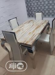 Reliable Quality Marble Dining Table With Four Chairs | Furniture for sale in Lagos State, Lekki Phase 2