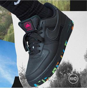 Nike Black Leather Sneaker | Shoes for sale in Lagos State, Magodo