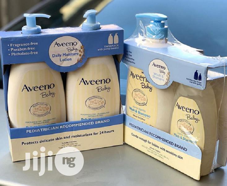 Aveeno Baby Moisture Lotion and Wash Shampoo