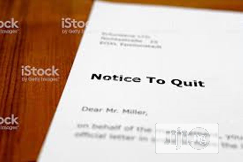 Draft Legal Notice To Quit
